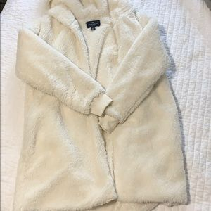 Off white American Eagle Fuzzy jacket